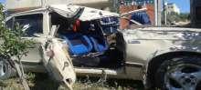 بالصور..ثلاثة إصابات في حادث سير تصادم بين مركبة وجرار زراعي على مفرق قرية زبوبا غرب جنين