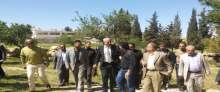 وزير الزراعة الفلسطيني ينظم زيارة تفقدية للاراضي الزراعية لمحافظة بيت لحم