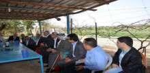 زيارة معالي وزير الشؤون الاجتماعية والزراعة لمحافظة قلقيلية