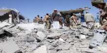 منظمة: 45 قتيلا و65 مصابا في ضربة جوية عند مخيم للاجئين في اليمن
