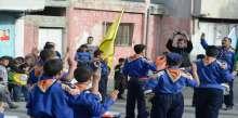 مجموعة الشهيد ياسر عرفات تحيي مسيرة كشفية و شعبية في مخيم بلاطة