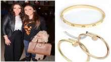 """منى زكي ترتدي أساور نجمات هوليوود الذهبية بآلاف الدولارات وبإطلالة ناعمة جدا بدون """"مكياج"""""""