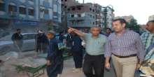 محافظ أسيوط يتفقد أعمال النظافة بحي شرق ويستمع إلى طلبات وشكاوى المواطنين