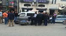 حادث سير في طولكرم بين دراجة هوائية وسيارة على دوار شويكة