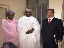 الرئيس النيجيري المُنتخب يستقبل سفير فلسطين في نيجيريا وينقل له تحيات الرئيس ابو مازن