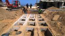 بدء ترميم البوابة الرئيسية لميناء غزة
