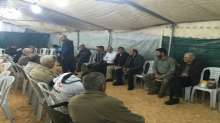 وفد الحركة الإسلامية بمشاركة النائب غنايم بزيارة تضامن لخيمة الإعتصام بكفركنا