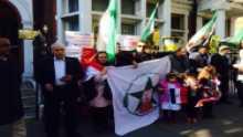 الجبهة الديمقراطية الشعبية الاحوازية تشارك الاشقاء السوريين مظاهراتهم امام السفارة الروسية