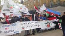 الجالية الاحوازية في عاصمة المملكة المتحدة تقيم مظاهرة حاشدة بمناسبة الذكرى التسعين لاحتلال الاحواز