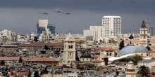 طائرات عسكرية في مساء القدس