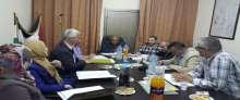 اللجنة الاقليمية للتنظيم والتخطيط العمراني بقلقيلية تعقد جلستها الرابعة لهذا العام
