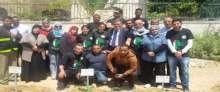 ضمن فعاليات المجلس الاعلى للشباب والرياضة اعمال تطوعية وزارعة اشجار في محافظتي رام الله والبيرة واريحا والاغوار