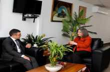 معايعة تلتقي ممثل جمهورية مالطا لدى فلسطين