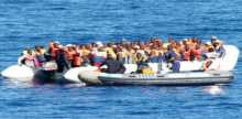 شاهد الفيديو: لحظات مرعبة لمهاجرين غرقوا في البحر المتوسط !!