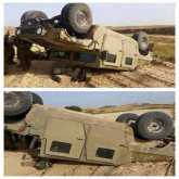 إصابة 4 جنود إسرائيليين بانقلاب جيب عسكري قرب غزة