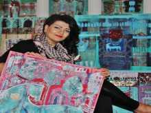 الفنانة العالمية الفلسطينية (ريما المزين )  ضيفة دولة قطر بمعرض (اصالة خيل )