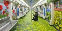 معرض فني على جدران مترو الأنفاق