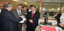 وزير الصحة يناقش مع  رئيس ديوان الرقابة المالية والإدارية سبل تطوير أداء وزارته
