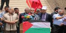 مسيرة جماهيرية حاشدة بغزة احتجاجاً على استمرار اختطاف النائب جرار