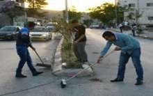 ممثلي القوى الوطنية في ابوديس يشرعون في تنظيف شوارعبلدتهم