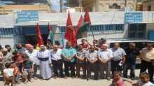 احتجاجا على اجراءات الاونروا.. اعتصام للمنظمات الجماهيرية الفلسطينية في منطقة صور