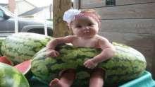 الأطفال وموسم البطيخ