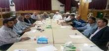 اللجنة الامنية العليا الفلسطينية تعقد اجتماعا في قاعدة مسجد خالد بن الوليد في مخيم عين الحلوة