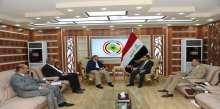 وزير الداخلية يستقبل نائب رئيس مجلس محافظة الانبار وعدد من أعضاء مجلس المحافظة