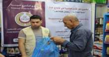 إتحاد الأطباء العرب بفلسطين يختتم مشروع توزيع السلة الغذائية الرمضانية للعام 2015