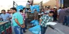 هيئة الإغاثة العالمية بغزة توزع 1500 سلة خضار وفواكه على الأسر الفقيرة