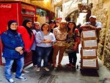 جمعية جين نصار وجمعية المواساة توزعان حصصاً غذائية في صيدا القديمة