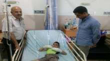مكتب محافظة والدفاع المدني يزوران مستشفى المقاصد