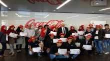 """شركة المشروبات الوطنية كوكاكولا/كابي و""""إنجاز فلسطين"""" تكرمان طلبة الجامعات الفائزين"""