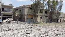 قصف يستهدف مخيم خان الشيح ويسفر عن ضحيتين وعدد من الجرحى