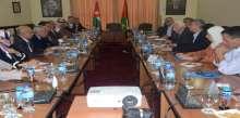 اجتماع وفد لجنة الأخوة الأردني الفلسطيني البرلماني