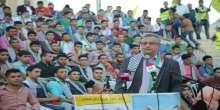 حركة فتح واللجنة التحضيرية تكرم طلبة الثانوية العامة المتفوقين خلال مهرجان حاشد