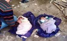 صورة: العثور على رضيعين توأم ملقيان في مقبرة في الأردن
