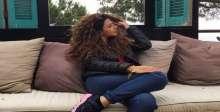 صورة .. ميريام فارس تُعاني بسبب شعرها المجعد
