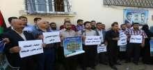 غزة: وقفة تضامنية مع شهداء الصحافة خلال عدوان 2014