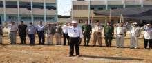 قوات الأمن الوطني الفلسطيني تشارك في افتتاح مخيم كشفي في مدرسة الزبابدة الثانوية
