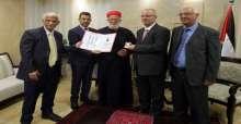 الحمد الله يتسلم الميدالية السامرية للسلام والانجازات الانسانية للعام 2015