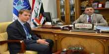 الشريفي يستقبل السكرتير الاول للشؤون السياسية في السفارة الهولندية