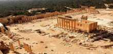 """تنظيم الدولة دمر جزءا من معبد """"بل"""" التاريخي في مدينة تدمر"""