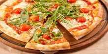 بيتزا بالخضار المشوية