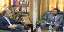 د.مجدلاني يلتقي القنصل الإيطالي العام لويجي ماتيرولو