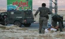 قوات الاحتلال تعتقل شاب اثناء المواجهات على مدخل اريحا الجنوبي