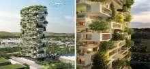 إيطالي يبني برجاً سكنياً تغطيه الأشجار بالكامل