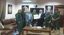 قائد منطقة جنين وطوباس يشارك في تكريم احد منتسبي قوات الأمن الوطني الفلسطيني
