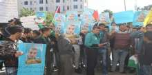 مسيرة واعتصام في جنين للمطالبة باسترداد جثماني الشهيدين أبو الرب وغربية