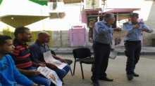 وقفة تضامنية مع الاسرى امام مكتب الصليب الاحمر في اريحا